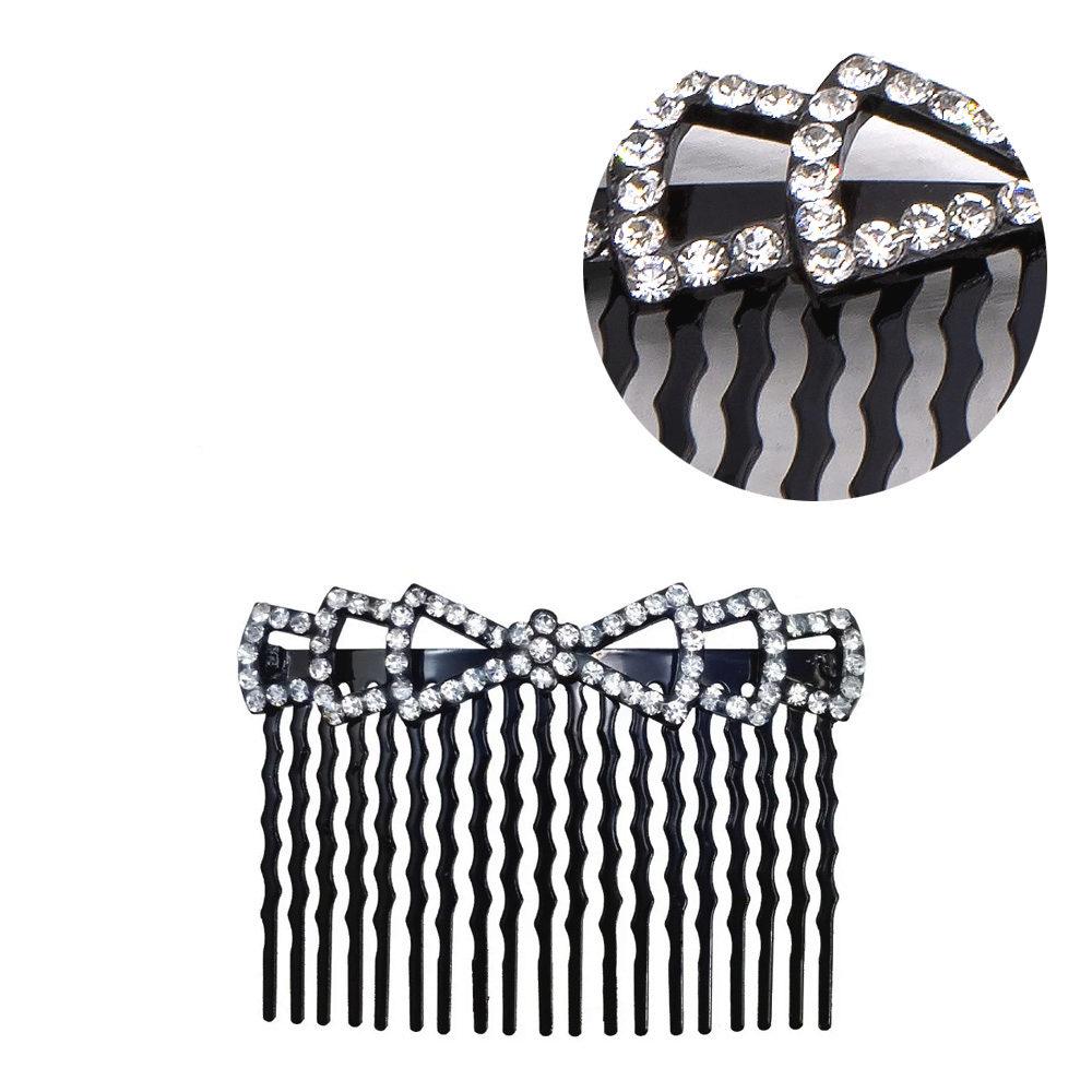 VIAHERMADA Schleife Haarspange mit Strasssteinen