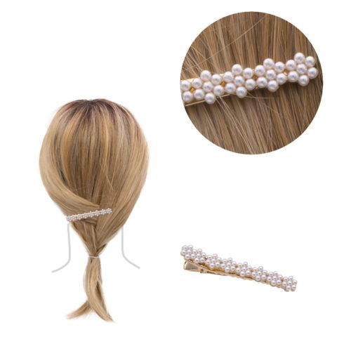 VIAHERMADA Haarspange mit Perlen 6,2x0,8cm
