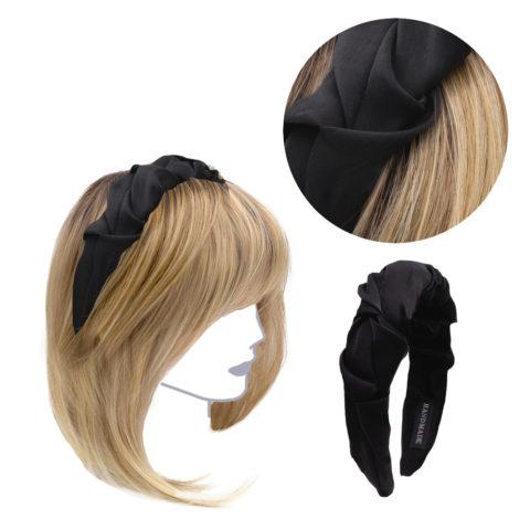 VIAHERMADA Handgemachtes Stirnband aus schwarzem Stoff