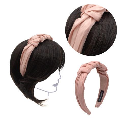 VIAHERMADA Handgemachtes Stirnband aus rosa Stoff