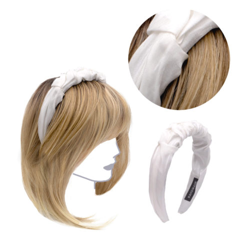VIAHERMADA Handgemachtes Stirnband aus weißem Stoff