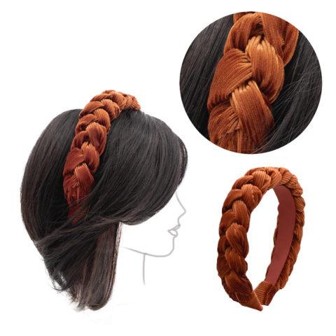VIAHERMADA Kupferfarbenes Cord-Stirnband
