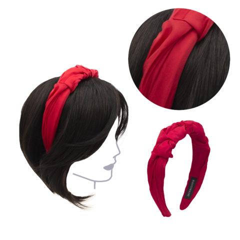 VIAHERMADA Handgemachtes Stirnband aus rotem Stoff