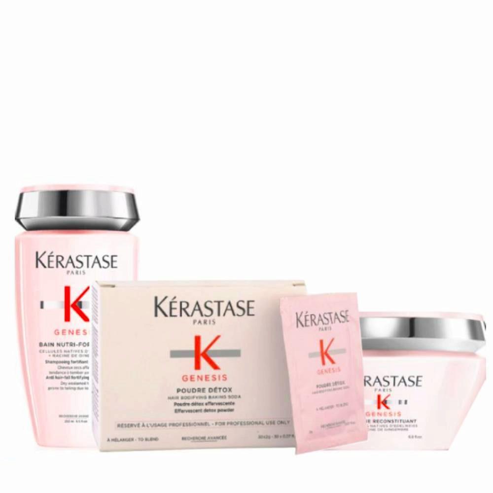 Kerastase Genesis Kit Shampoo 250ml Pulver Zum Mischen 2grx30 Maske 200ml