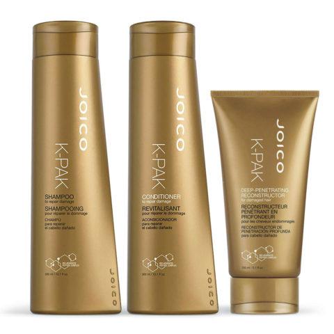 Joico K-pak Kit1 Shampoo 300ml Conditioner 300ml Deep penetrating reconstructor 150ml